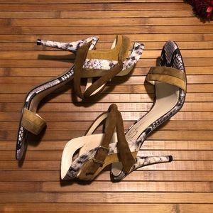 Jessica Simpson Marysa Suede Leather Sandal Heels